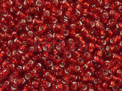TOHO Round 8o-25C Silver-Lined Ruby - 100 g