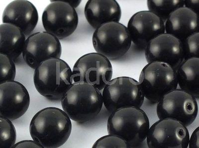 Round Beads Jet 8 mm - 10 sztuk