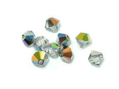 Bicone 3mm Crystal Vitrail - 100 sztuk