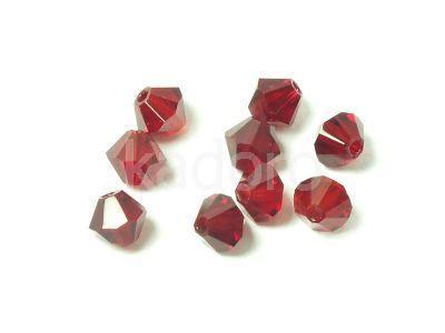 Bicone 4mm Siam Ruby - 100 sztuk