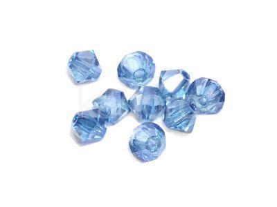 Bicone 3mm Luster - Transparent Blue - 6 sztuk