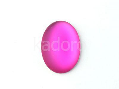 Kaboszon Lunasoft Raspberry owal 25x18 mm - 1 sztuka
