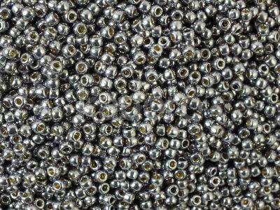 TOHO Round 11o-PF568 Permanent Finish - Galvanized Gunmetal Gray - 100 g