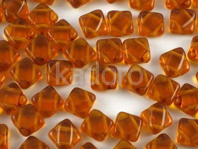 Silky Beads 6mm Dark Topaz - 20 sztuk