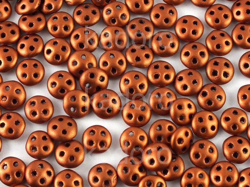 QuadraLentil 6mm Matte Metallic Dark Copper - 5 g