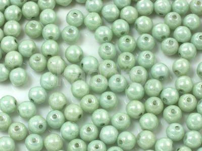 Round Beads Luster - Metallic Lt Green 4 mm - opakowanie