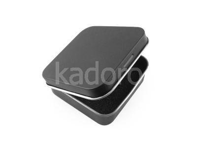 Metalowe pudełko na kolczyki lub wisiorek czarne
