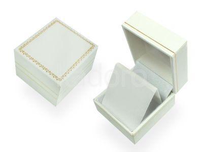 Eleganckie opakowanie na kolczyki lub wisiorek białe z ornamentem