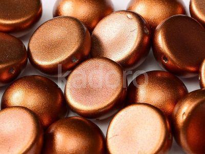 Dome Bead Matte Metallic Dark Copper 14x8mm - 1 sztuka