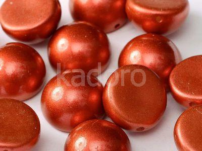 Dome Bead Chalk Lava Red 14x8mm - 1 sztuka