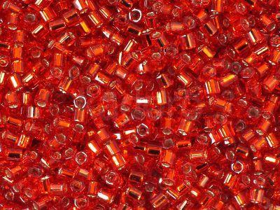 TOHO Hex 8o-25B Silver-Lined Siam Ruby - 10 g