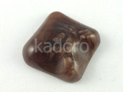 Kaboszon akrylowy brązowy 24x24 mm - 1 sztuka