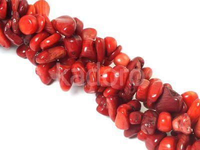 Koral czerwony sieczka 5-15 mm - długi sznur 78 cm