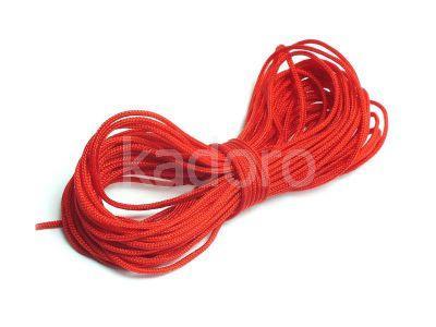 Sznurek ozdobny czerwony 1 mm - 3 m