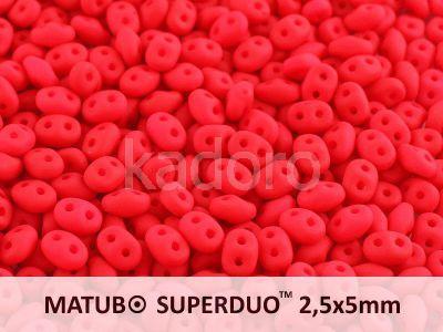 SuperDuo 2.5x5mm Neon Red - 10 g