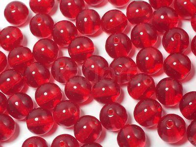 Round Beads Siam Ruby 6 mm - 20 sztuk