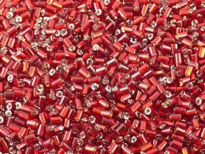 PRECIOSA Bugle 1-Silver-Lined Siam Ruby SH - 10 g