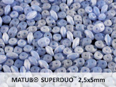 SuperDuo 2.5x5mm Opal Blue - 10 g