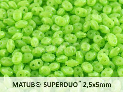SuperDuo 2.5x5mm Opal Green - 10 g