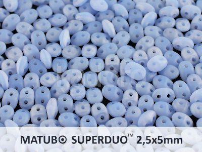 SuperDuo 2.5x5mm Matte Opal Blue - 10 g