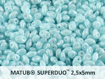 SuperDuo 2.5x5mm Luster Opal Aqua - 10 g