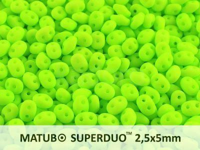 SuperDuo 2.5x5mm Neon Chartreuse Green - 10 g