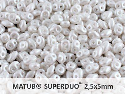 SuperDuo 2.5x5mm Pearl Shine White - 10 g