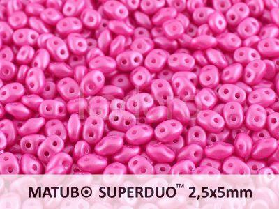 SuperDuo 2.5x5mm Pearl Shine Light Fuchsia - 10 g
