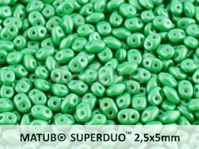SuperDuo 2.5x5mm Pearl Shine Light Green - 10 g