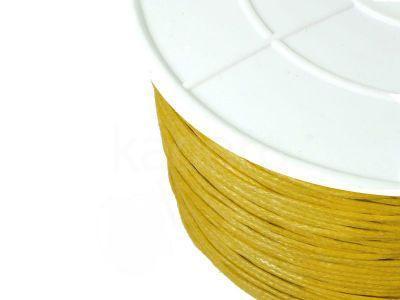 Sznurek woskowany 1 mm żółty II - 3 m