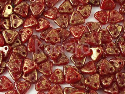 Triangle 6mm Gold Marbled Oxblood - 5 g