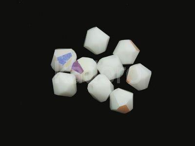 Bicone 5mm White AB - 4 sztuki