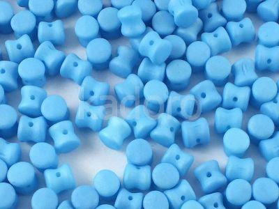 Pellet 4x6mm Aquamarine Silk Mat - 20 sztuk