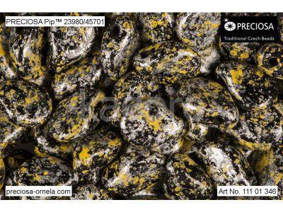 PIP 7x5mm Metallic Marble Yellow - 20 sztuk