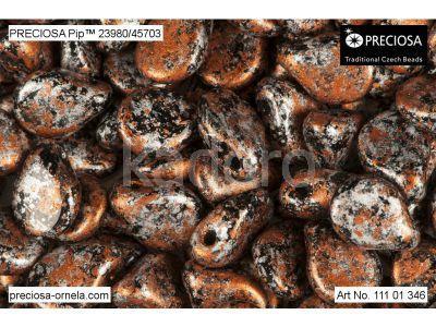 PIP 7x5mm Metallic Marble Copper - 20 sztuk