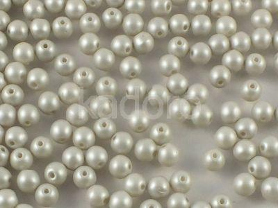 Round Beads Pastel Grey 4 mm - opakowanie