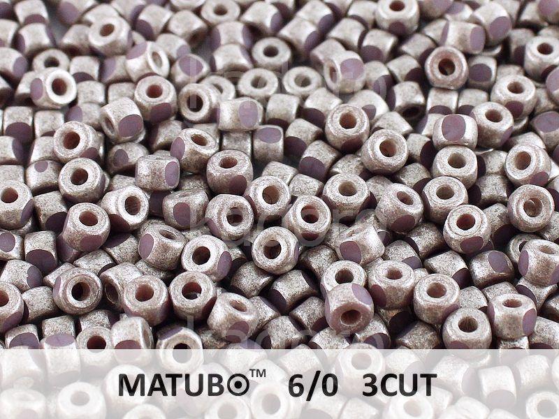 3CUT 6o Opaque Lt Purple - Old Silver - 5 g