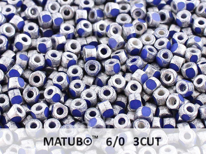 3CUT 6o Opaque Blue - Old Silver - 50 g