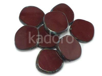 Table Cut Disk Opaque Wine - Picasso 22 mm - 1 szt