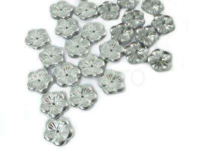 Flowers Silver 1/2 (t) 14 mm - 2 sztuki
