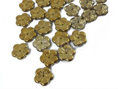 Flowers Gold 1/2 (t) 14 mm - 2 sztuki