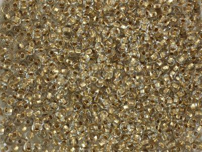 PRECIOSA Rocaille 6o-Gold-Lined Crystal - 50 g