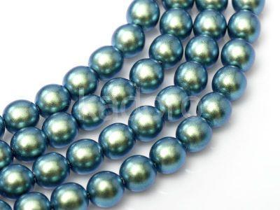 Perełki szklane morskie opalizujące 2 mm - sznur