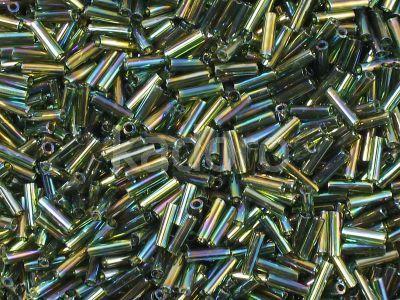TOHO Bugle 2-180 Trans-Rainbow Olivine - 10 g