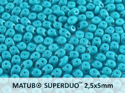 SuperDuo 2.5x5mm Ancient Turquoise - 100 g