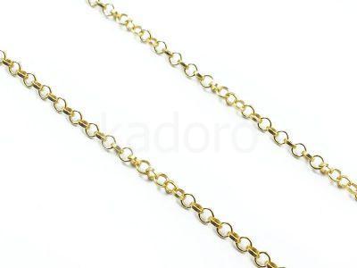Łańcuch rolo ogniwo okrągłe 1.7 mm srebro złocone - 10 cm