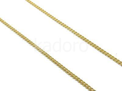 Łańcuch ozdobny 1.0x0.6 mm srebro złocone - 10cm