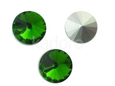 Szklane Rivoli 10 mm Dark Moss Green F - 4 sztuki