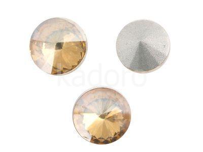 Szklane Rivoli 10 mm Crystal Golden Shadow F - 4 sztuki