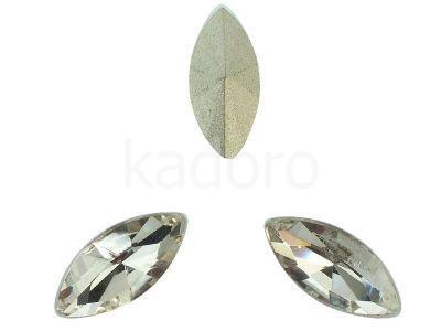 Szklany kamień fasetowany markiza 15x7mm Crystal F - 1 sztuka